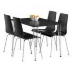 jysk-dining-table-4-chairs-chrome-black-ballerup-5.669 Jt